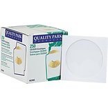 Quality Park Inhumed CD / DVD Envelopes, 4 7/8 x 5, White , 250/Bx
