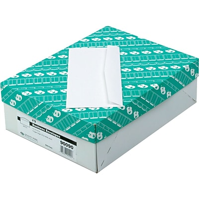 Quality Park Gummed Contemporary Style Business #9 Envelopes, 3 7/8 x 8 7/8, White, 500/Bx (QUA90090)