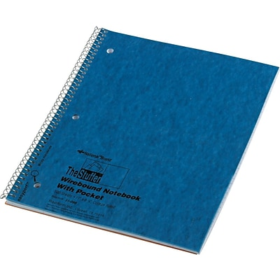 National® 1-Subject Stuffer Notebook, Inside Pocket, 8 7/8 x 11, College Ruled, 100 Sheets