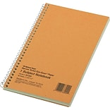 Rediform Wirebound 1-Subject Green Tint Notebook, 7 3/4 x 5, Narrow Ruled, 80 Sheets/Book