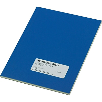 National Brand Chemistry Notebook, 9-1/4 x 7-1/2, 60 Green Tint Sheets