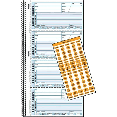 Rediform® Professional Line Telephone Message Book, Memo Style, 2 Part Carbonless, 11 x 5 3/4
