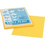 Pacon Tru-Ray Construction Paper 12 x 9, Yellow, 50 Sheets (103004)
