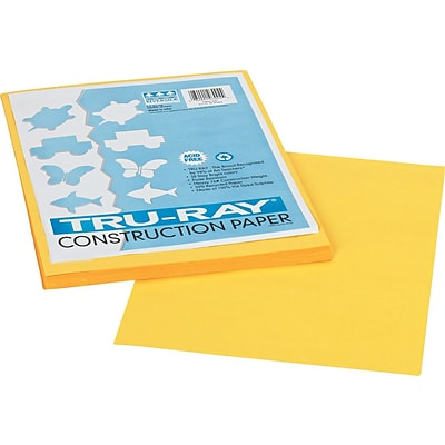 Pacon Tru-Ray Construction Paper 12 x 9, Yellow (103004)