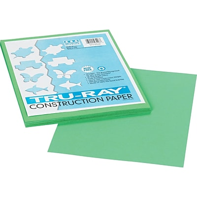 Pacon Tru-Ray Construction Paper 12 x 9, Festive Green, 50 Sheets (103006)