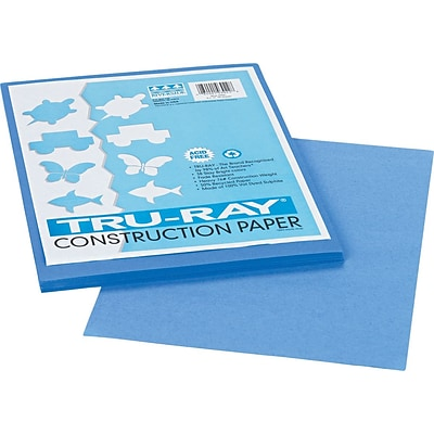 Tru-Ray® Sulphite Construction Paper, 9 x 12, Blue, 50 Sheets