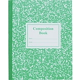 Roaring Spring Center Sewn Grade School Ruled Composition Book, 9 3/4 x 7 3/4, Green Cover