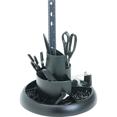 Rubbermaid® Rotary Desk Organizer, With Supplies