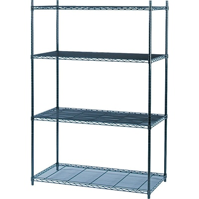Safco® Industrial Wire Shelving, Starter Kit, 48Wx24D
