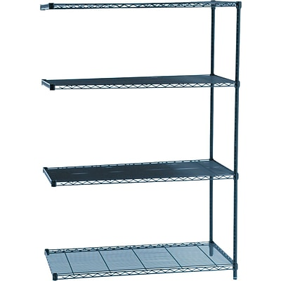 Safco® Industrial Wire Shelving, Add on Unit, 48Wx24D