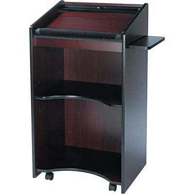 Safco® Executive Mobile Lecterns, Mahogany