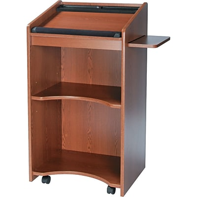 Safco® Executive Mobile Lecterns, Medium Oak
