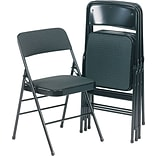 Blk Fabric Padded & Back Folding Chair
