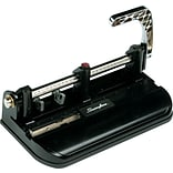 Swingline® Accented Heavy Duty 2-7 Hole Punch, Adjustable Centers, 40 Sheet Capacity, Black with Woo