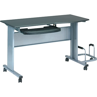 Mayline® Mobile Work Tables, Charcoal Grey
