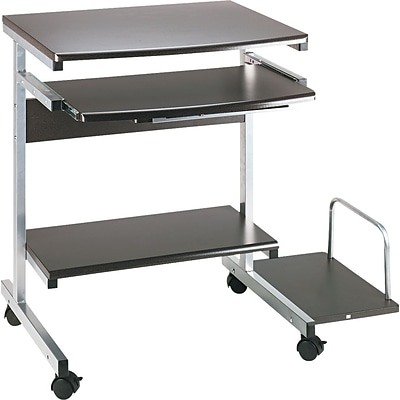 Mayline® Portrait PC Desk Carts, Charcoal Grey