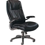 Tiffany Industries Black Leather High-Back Office Chair
