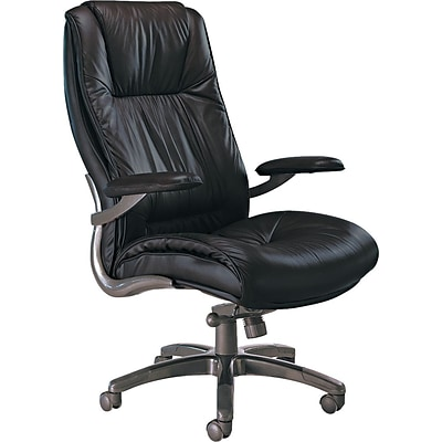 Tiffany Industries® Ultimo Series Leather High-Back Office Chair, Black