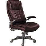 Tiffany Industries Burgundy Leather High-Back Office Chair
