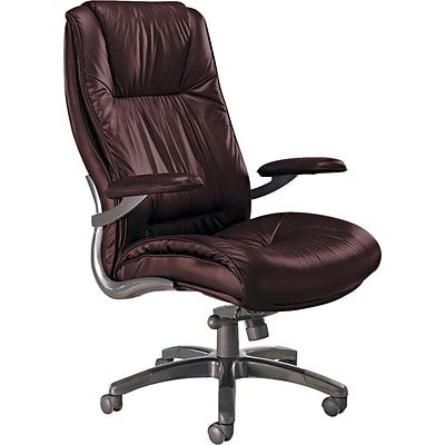 Tiffany Industries® Ultimo Series Leather High-Back Office Chair, Burgundy