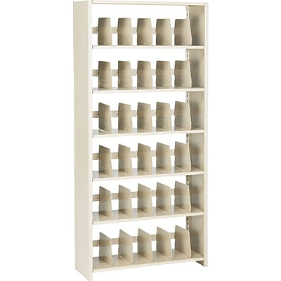 Tennsco™ 6-Tier Open Shelf Lateral File Cabinet, Sand, Legal (TNN1276PCSD)