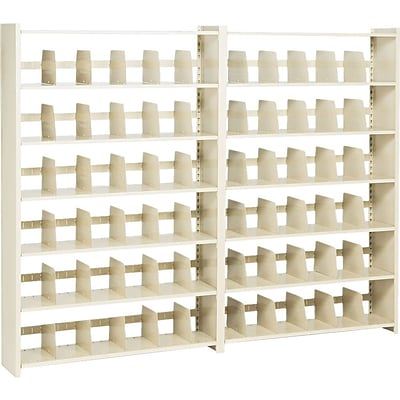 Tennsco® Snap-Together Shelving, 48x76, 6 Shelves, Closed Add-On Unit