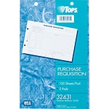 TOPS Purchase Requisition Form, 8-1/2 x 5-1/2, 100 Sheets/Pad, 2 Pads/Pack (32431)