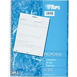 TOPS® Proposal Book, Ruled, 2-Part, White/Canary, 11 x 8 3/8, 1/Ea