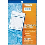 Receiving Record Book, 3-Part, Carbonless, 50 St/Bk