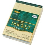 Double Docket® Legal Notepad, Narrow Rule, Canary, 100 Sheets , 6 Pads/Pack, 8-1/2 x 11-3/4