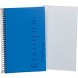 TOPS® Classified™ Colors Business Wirebound Notebook, College Ruled, Indigo, 8 1/2 x 5 1/2