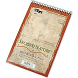 TOPS® Second Nature Wirebound Steno Pad, 6 x 9, Gregg Rule, White, 100% Recycled, 80 Sheets (74688