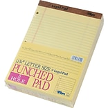 The Legal Pad™ Legal Rule, Canary, 3-Hole Punched, 50 Sheets/Pad, 12 Pads/Pack, 8-1/2x11-3/4
