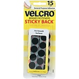 Velcro® Sticky Back Sticky Tape; Black, 15/Pack