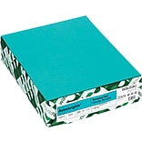 Wausau Papers® 21849 Astrobrights Paper, Terrestrial Teal, 8 1/2(W) x 11(L), 500 Sheets