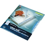 Wilson Jones View-Tab® Transparent Dividers, Clear, 8 Square Tab Set