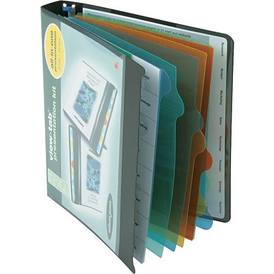 Wilson Jones® View-Tab™ Presentation Binder, 1, 8-Tab, Black