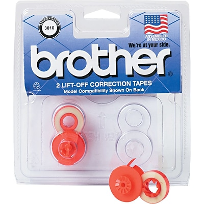 Brother® 3010 Lift-Off Correction Tape, 2-Pack