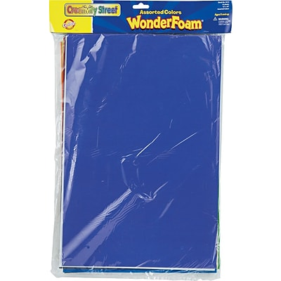 Chenille Kraft Company WonderFoam® Sheets, Assorted Colors, 12 x 18, 10 Sheets/Pk