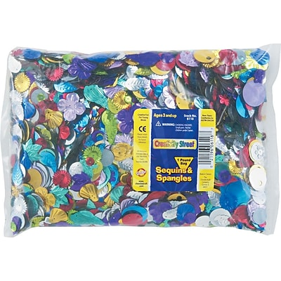 Chenille Kraft Creativity Street Sequins and Spangles Classroom Pack, Assorted Metallic Colors