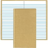 Handy Size Bound Memo Book w/Stiff Tan Cover, 7 x 4 3/8, 96 Pages