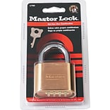 Master Lock® Resettable Combination Padlock; 2 Wide, Brass