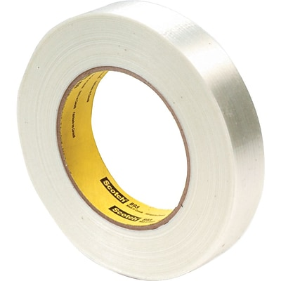 3M Economy Grade Glass Filament Tape, 3 Core, Clear, 24mm x 55m, 1/Rl