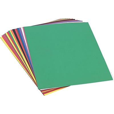 Pacon SunWorks® Construction Paper, 58 lbs., Assorted Colors, 18 x 24, 50 Sheets/Pk
