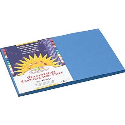 Pacon® Sunworks® Construction Paper; Blue, 12 X 18, 50 Sheets