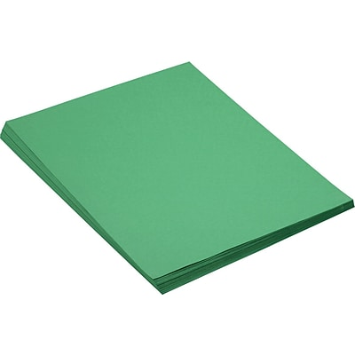 Pacon SunWorks® Construction Paper, 58 lbs., Holiday Green, 18 x 24, 50 Sheets/Pk