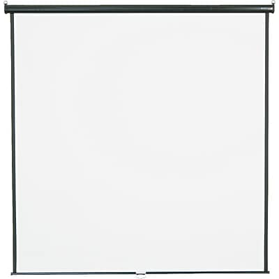 Quartet® Wall/Ceiling Projection Screen, Black Frame, 84 x 84