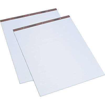 TOPS® Standard Easel Pad, 50 Sheets, White - Plain, 27 x 34, 2/Ct