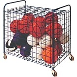 Lockable Ball Storage Cart with Hinged Cover, Holds up to 24 Assorted Balls (CHULFX)