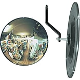 See All® 160 degree Convex Safety/Security Mirror, 12 dia., 10 sq. ft. Viewing Area
